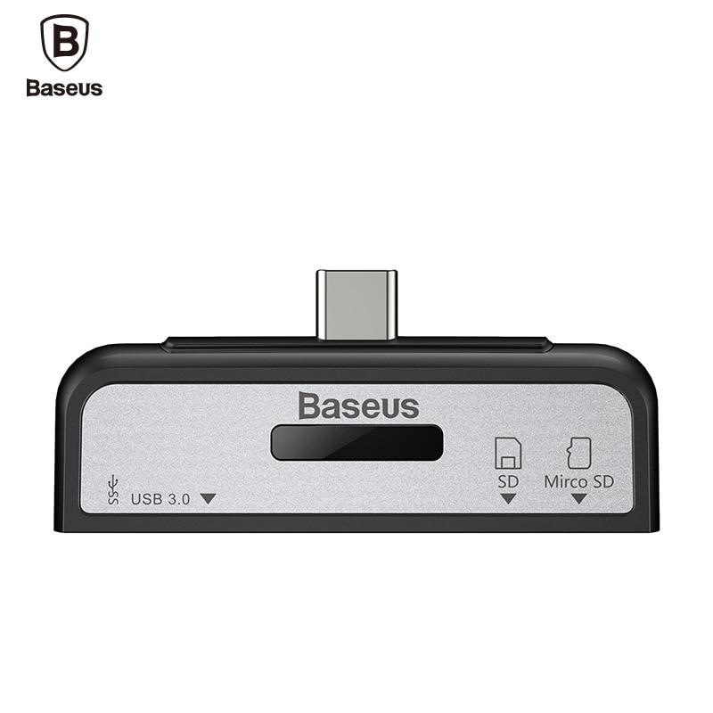 Universal BASEUS Data Migration USB 3 1 Type C OTG Card Reader Male Type C to
