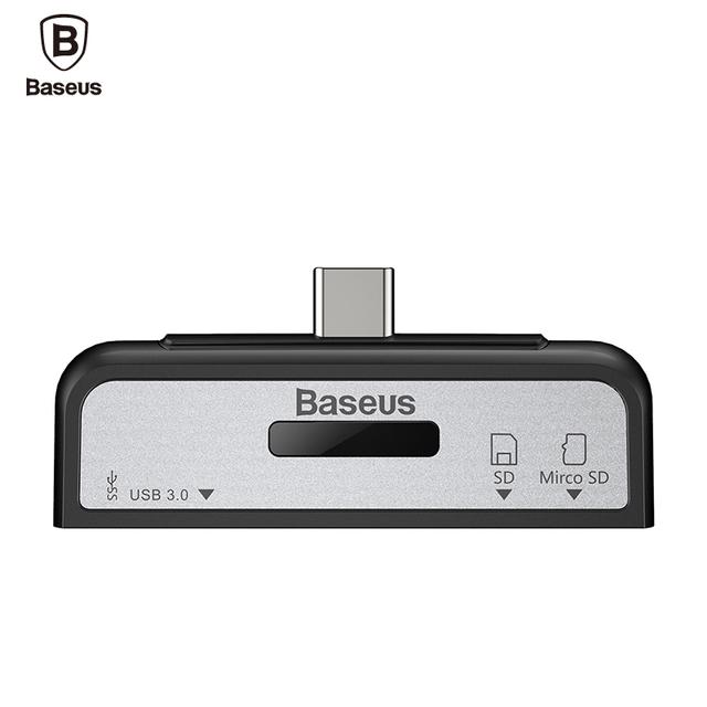 Universal BASEUS de Migração de Dados USB Tipo 3.1-C Leitor de Cartão OTG Tipo macho-C para USB 3.0 Adaptador Feminino para Macbook Telefones computador