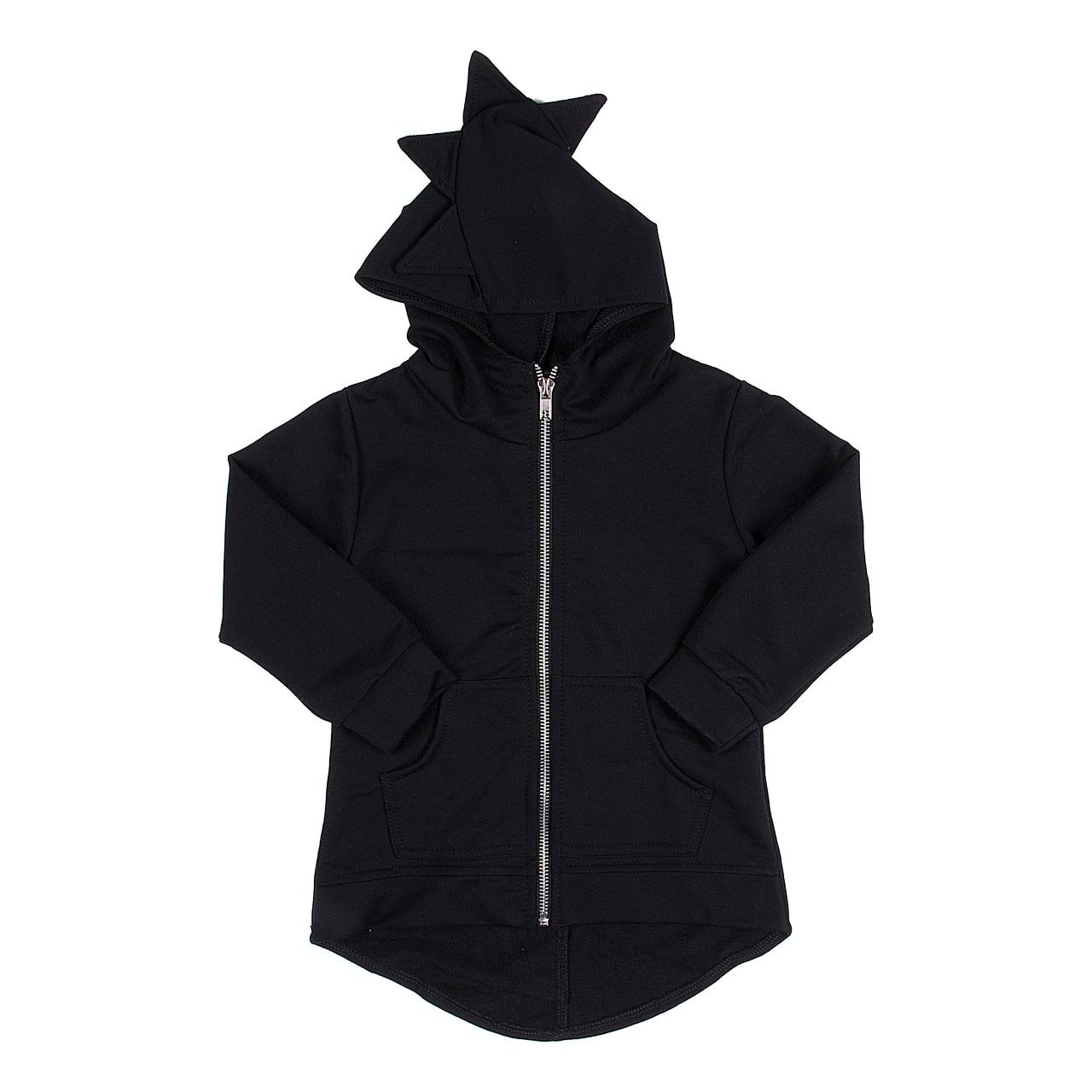 Funny Girls Dinosaur Clothes Kids Boys Coat Hoodies Zipper Long Sleeve Coat Outerwear Warm Clothing