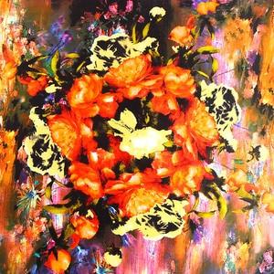 Image 4 - Donkerblauw 100% Real Zijden Sjaal Voor Dames Merk Designer Sjaals Lente Herfst Van Gogh Olieverf Vierkante Sjaals Wraps 90*90Cm