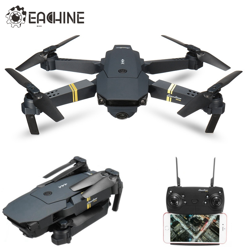 Original Eachine E58 WiFi FPV con gran angular HD Cámara modo alto brazo plegable RC quadcopter RTF vs visuo xs809hw jjrc h37