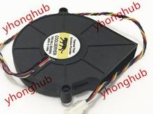 Free Shipping For EVERFLOW BB7515BU DC 12V 0.80A 4-wire 4-Pin connector 70mm Server Blower Cooling fan