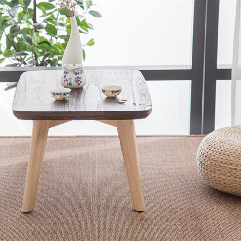 Nordic style Bay windeow small coffee table simple solid wood window balcony long desk Japanese style mini table in Coffee Tables from Furniture