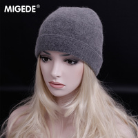 European export order High quality wool Hat Beanies For women Solid Color wool knit Hats Bonnet Womens Cap Winter Hat