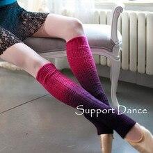 תמיכה ריקוד בלט Legwarmers הדרגתי שינוי צבעים DKW16