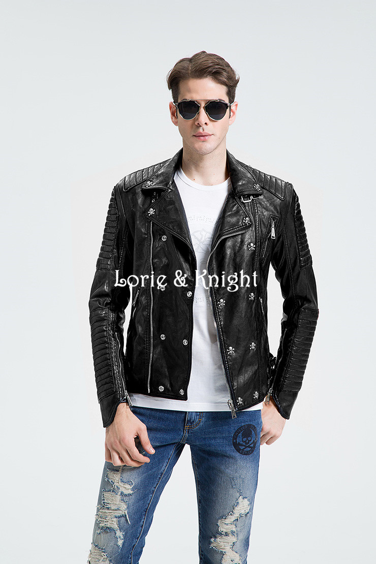 Online Buy Wholesale studded leather jacket men from China studded ...