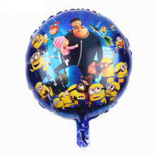 TSZWJ I-068 new children's toys, aluminum balloons round small yellow people happy birthday party balloons balloon(China)