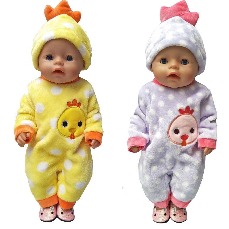 43 cm Zapf Bayi lahir pakaian boneka kartun set untuk 18 inch gadis - Boneka dan aksesoris - Foto 2