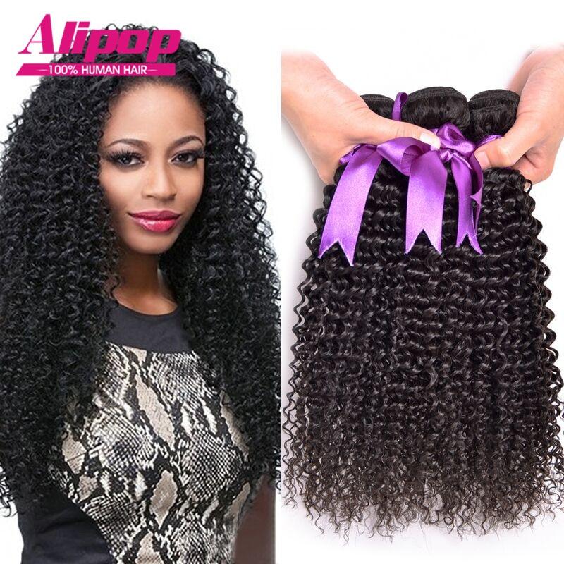 Malaysian Curly Virgin Hair 4pcs Virgi Weave Human 8a Grade