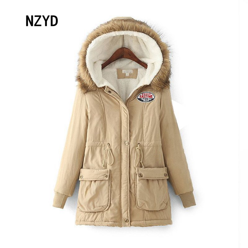 Winter Women Jacket 2017 New Fashion Hooded Thick Warm Medium long Female Coat Long sleeve Loose Big yards Parkas LADIES251 2017 new women winter parkas fashion hooded thick warm medium long down cotton jacket long sleeve loose big yards female coat