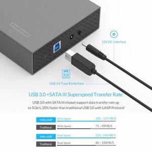 Image 4 - オリコ 3.5 8 Aluminum HDD ケース SATA 3.0 に USB 3.0 Hdd ケース Supprt 10 テラバイトハードドライブ 6 5gbps UASP USB ケースと 12V 電源アダプタ
