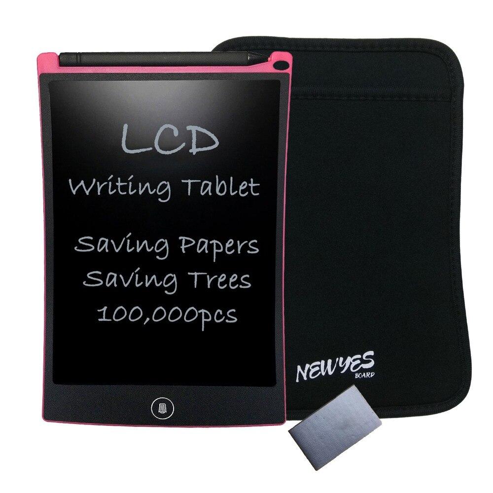 NEWYES Pink 8,5 palcový digitální LCD kreslení hračky eWriter elektronické děti kreslení psací podložka s taškou a magnetem doprava zdarma