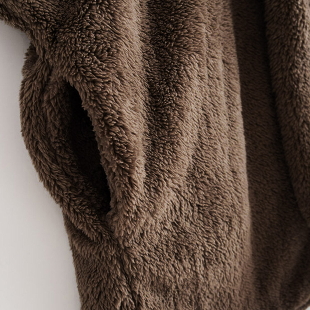 Women Hooded Coat Winter Warm Plush Pockets Cotton Coat Outwear Casual Hoodies Jacket Overcoat Top female outerwear 15