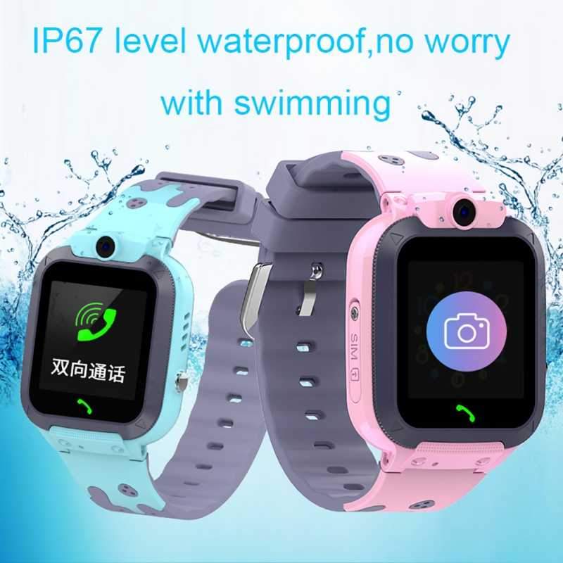 Kids Smart Watch For Children Water Resistant Watch Phone Baby IP67 Waterproof Swimming LBS Tracker Smartwatch English / Russian