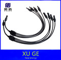 1Pairs x MC4 Connector Y type 4 in 1 male and female solar cable connect, IP67 1 to 4 Y MC4 Style Branch Connector Cables 0.7m
