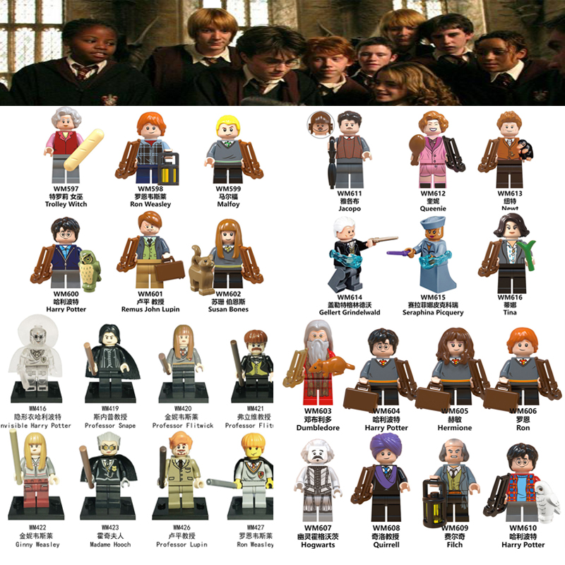 Harry Magic Series Figuress Series Action Figures Magical Thestral Fantastic Beasts Set Building Blocks Toys For Children
