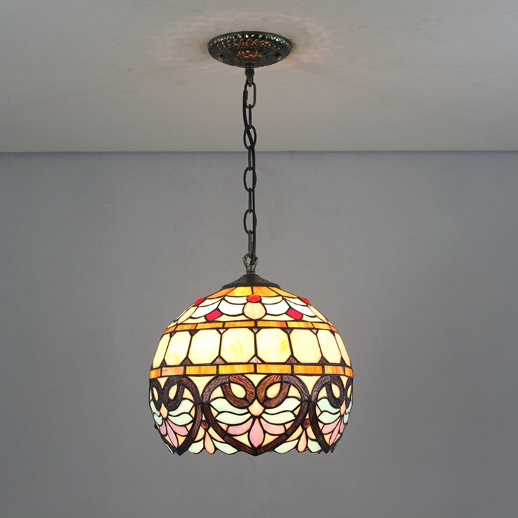 European style retro Tiffany Pendant Lights stained glass love peach shaped Baroque 30cm with E27 110-240V  Chain  LuminariasEuropean style retro Tiffany Pendant Lights stained glass love peach shaped Baroque 30cm with E27 110-240V  Chain  Luminarias