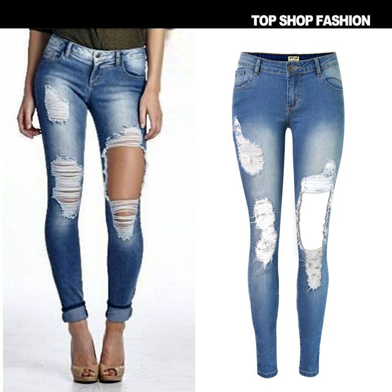 Online Get Cheap Ripped Jeans Dames -Aliexpress.com | Alibaba Group