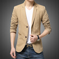 2017 New Men's Clothing Slim Casual Blazers Long Solid Turn-Down Collar Leisure Jacket Single Breasted Mens Blazers Freeshippin