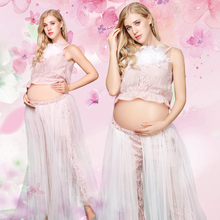 Falda de las mujeres Accesorios de fotografía de maternidad Ropa de embarazo Vestidos de maternidad para la sesión de fotos de embarazada