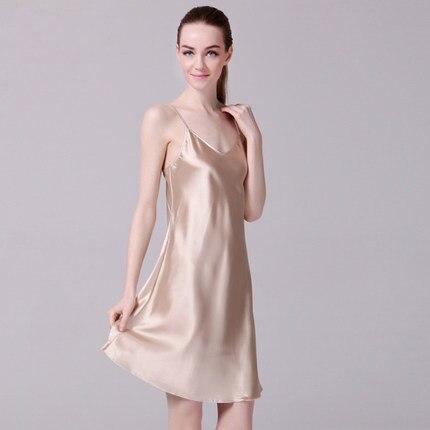 Women S Silk Satin Suspender Skirt Las V Neck Slip Basic Underwear Dresses Nightgown Y Dress White Long Sleepshirts In Nightgowns From