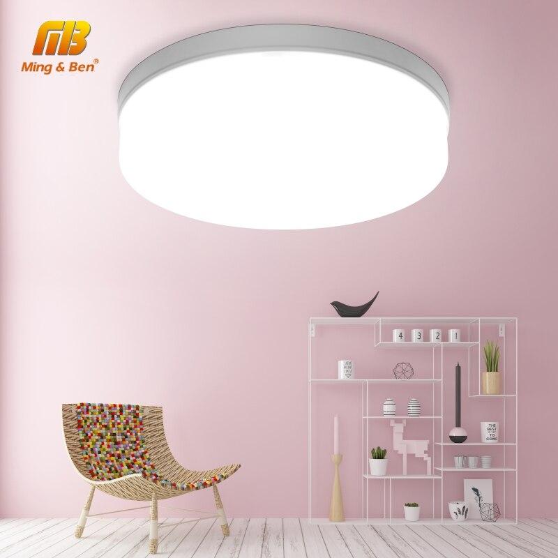 Panel de luz LED redondo 18W 24W 36W 48W LED superficie luz de techo cuadrada 85-265V lámpara de techo moderna para la decoración de la iluminación del hogar