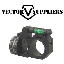 Vector Optics 30mm / 25.4mm ADI Horizontal & Vertical Indicator Bubble Level Scope Mount Ring vector optics rogue 2 6x32 aoe hunting riflescope with 25mm mount ring sunshade flipup cap