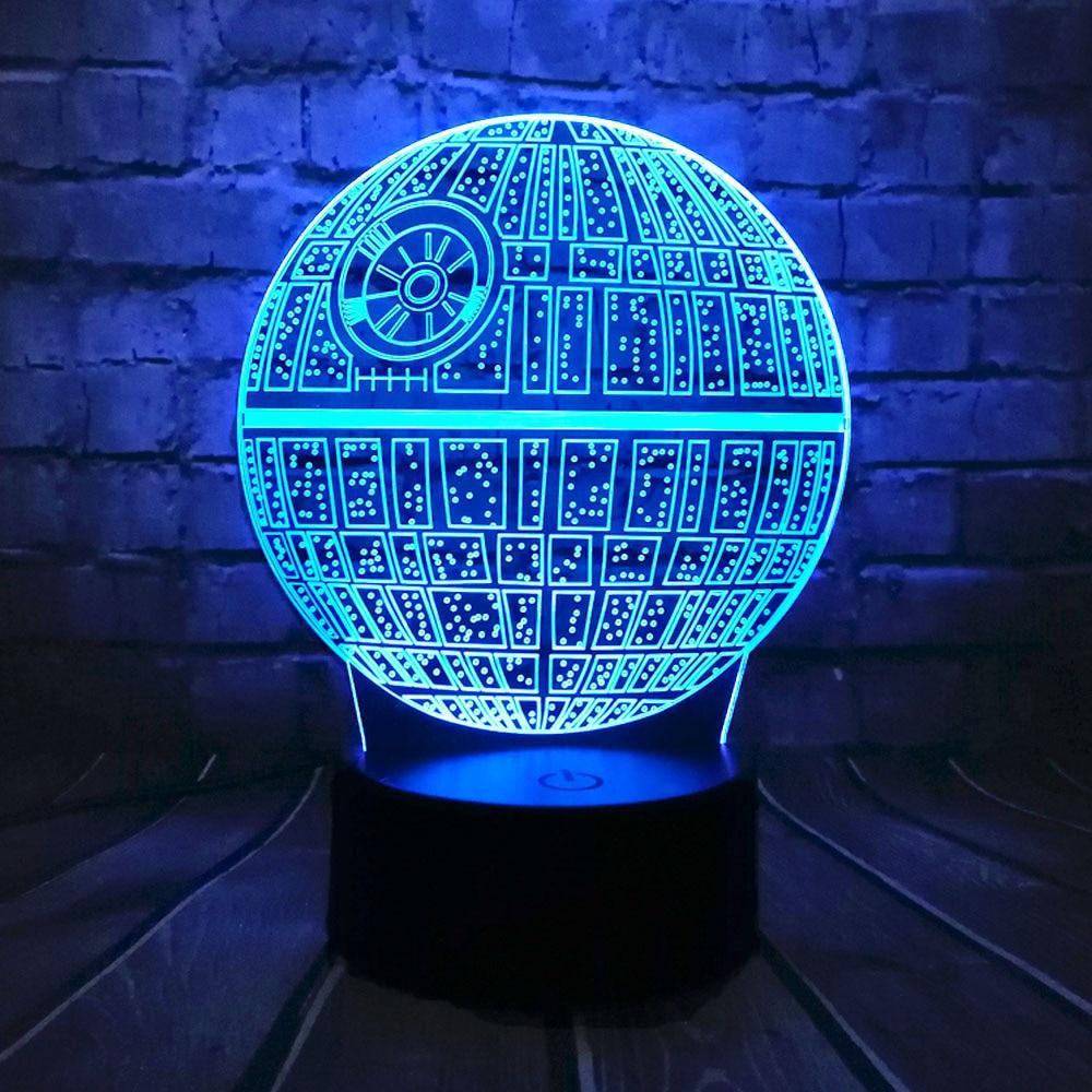 Hot Sale Film Star Wars 3D USB LED-lampa Astro Cartoon Death Star - Nattlampor - Foto 3