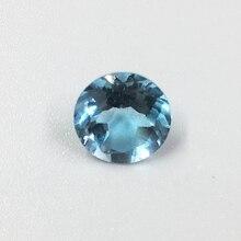 Ослепительная круглый бриллиант форма Природный Топаз Gemstone 8 мм * 8 мм 2ct топаз свободные камень для кольцо ГПК сертификат
