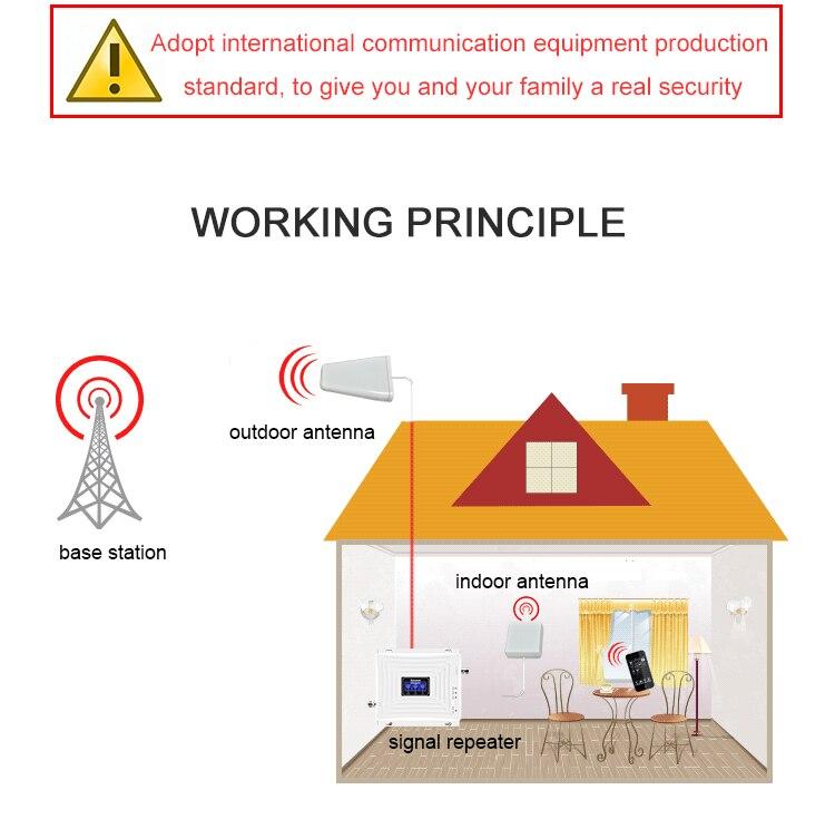 Répéteur à trois bandes Lintratek 2G 3G 4G GSM 900 mhz dcs 1800 WCDMA/UMTS 2100 MHz amplificateur antenne téléphone Mobile 4g amplificateur de Signal S58 - 5