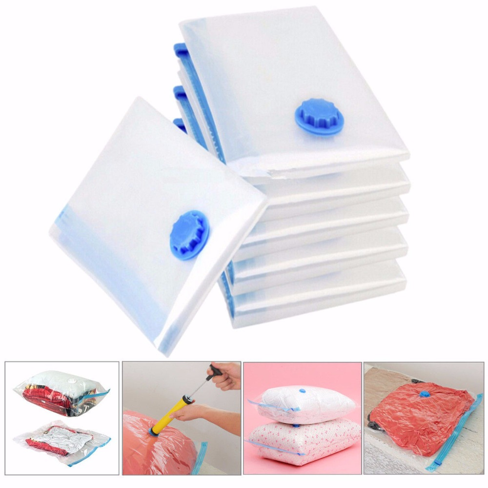 2018 Hot Vacuum Bag Storage Bag Transparent Border Foldable Extra Large Compressed Organizer Saving Space Seal Bags Organizer