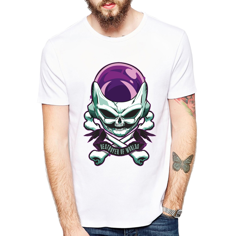 Anime Dragon Ball Z Resurrection Freeza the Destroyer Adult Men's T-Shirt Clothing comfortable white Short Sleeve T Shirt