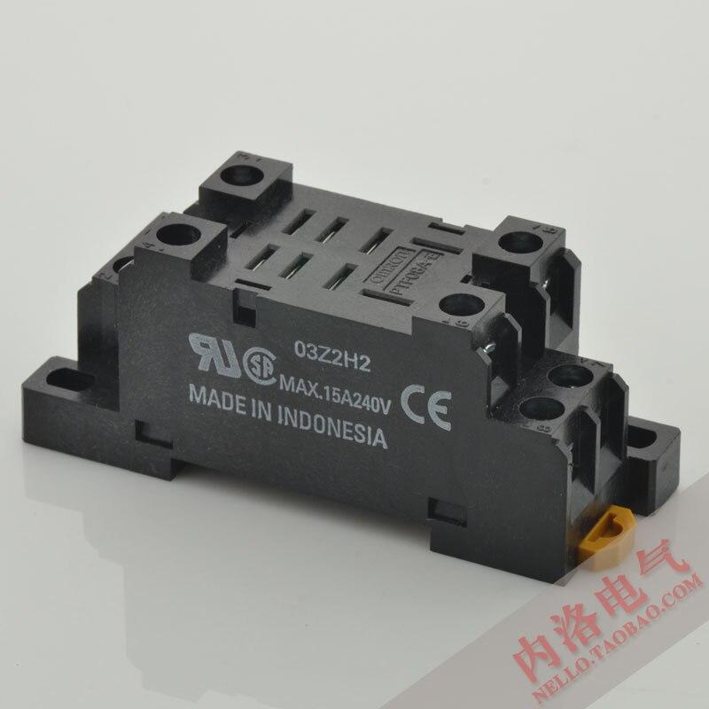 [SA] оригинальная аутентичная n релейная база PTF08A-E 8 отверстий 2A2B 10А- 10 шт/лот