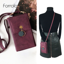 Latest Women Leather Shoulder Wallet Phone bag Case Female M