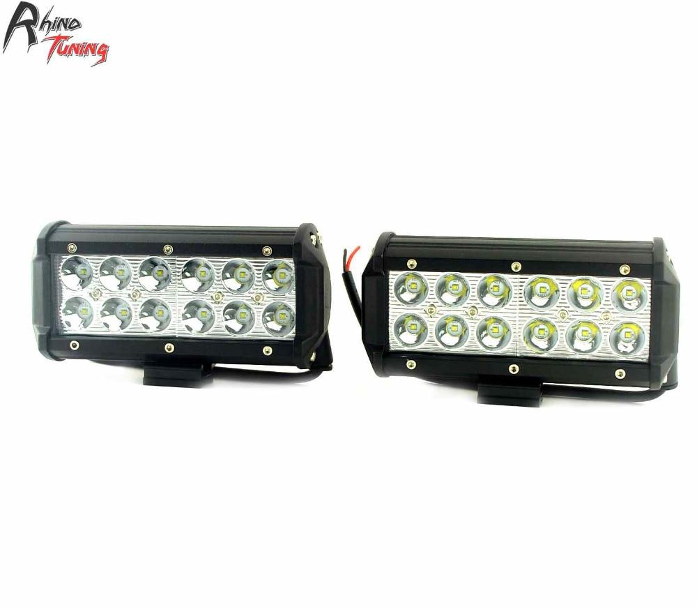 Rhino Tuning 2PC 36W 12 X 3W Car LED Light Bar Worklight Spotlight For OFF Road Auto Floodlight 145