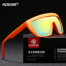 KDEAM One-piece Polarized Sunglasses Men Oversized Shield Su