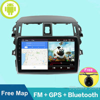 2 Din Car Stereo Radio 9'' Android GPS Navigation HD Autoradio Multimedia Player Android 8.1 Mirror Link for Toyota Corolla