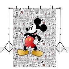 Traktatie Kinderen Verjaard Vinyl Photobooth Mickey Mouse Party Children Birthday Backdrops Custom Photo Studio Background