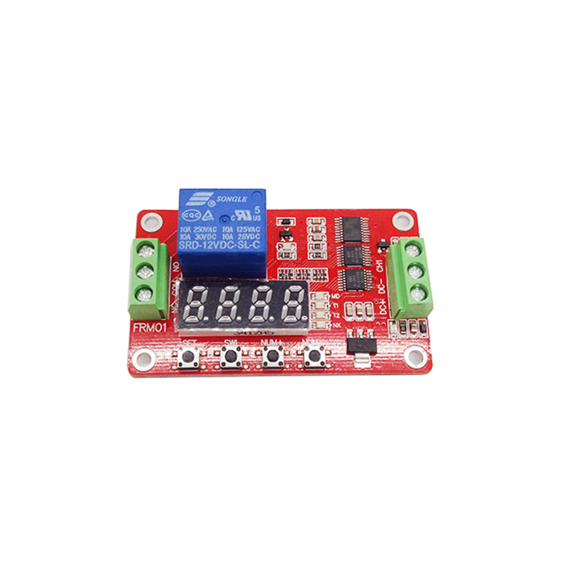 Multifunction Self-lock Relay Cycle Timer Module PLC Automation Delay 12V 5pcs new 1pcs ee 1010 om plc industrial use plc module industry automation t
