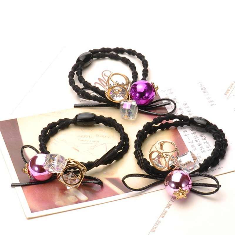 1PCS Creative bead Hair Accessories For Women Headband,Hollow Elastic Bands For Hair For Girls,Hair Band Hair Ornaments For Kids