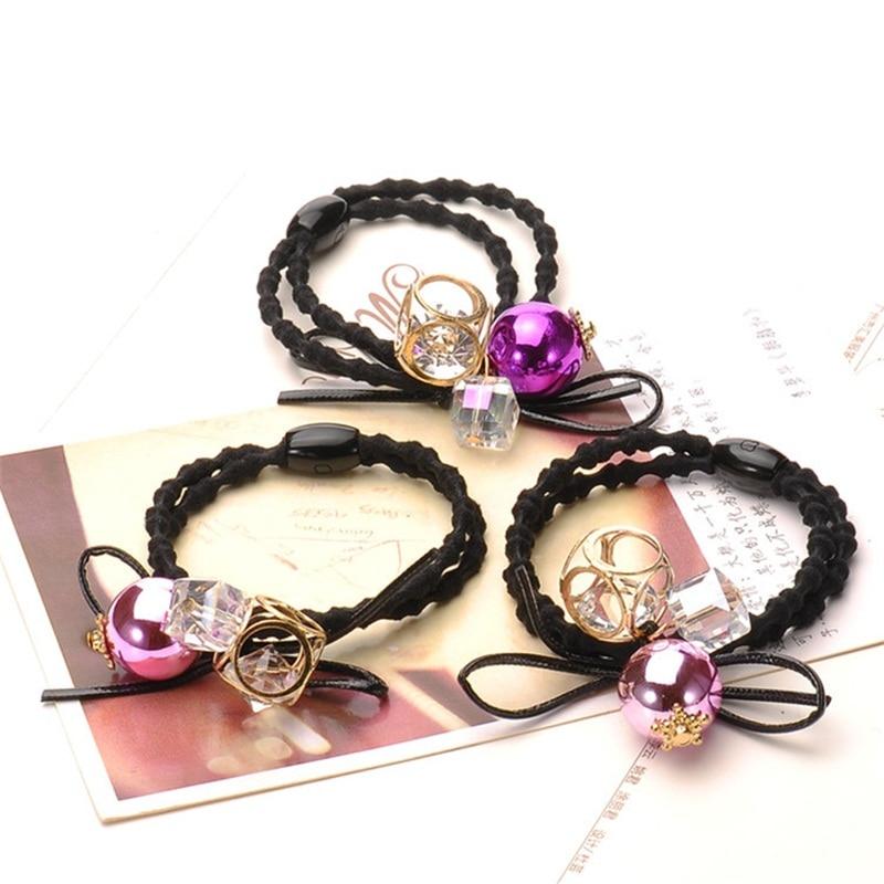 1PCS Creative bead Hair Accessories For Women Headband,Hollow Elastic Bands For Hair For Girls,Hair Band Hair Ornaments For Kids