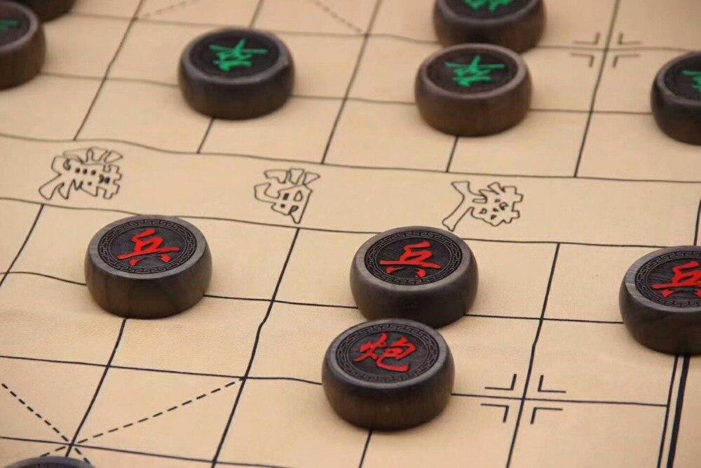 TNUKK scacchi Cinesi vestito gloomy scacchi in legno tromba gran numero di alta qualità sculture in legno. - 2