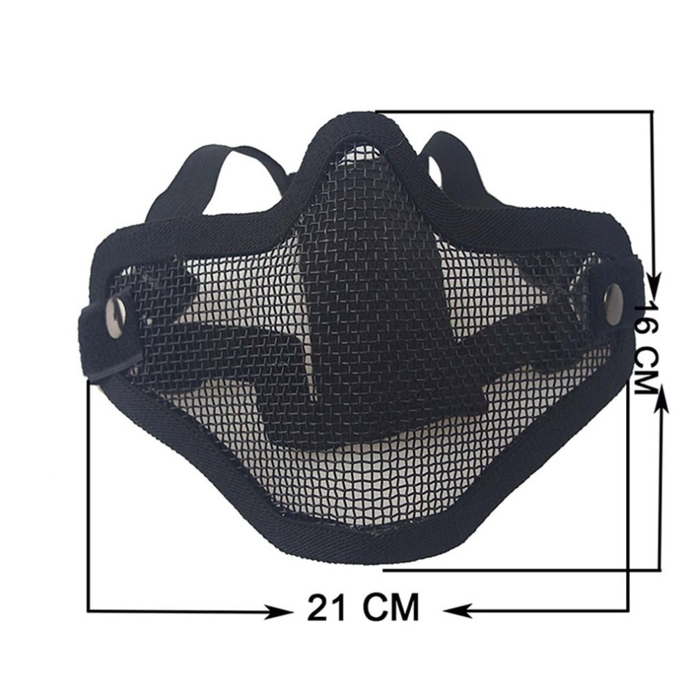 protective mask Airsoft Mask Half Face Metal Steel Net Mesh Mask Hunting Tactical Protective NP