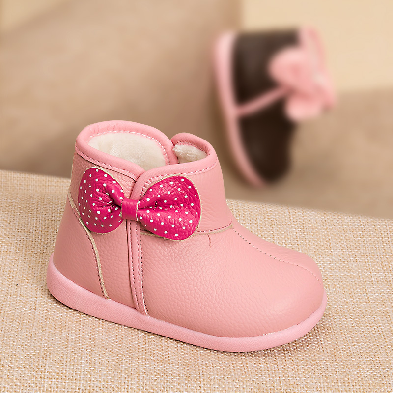 Phynier Girl cotton boots female baby