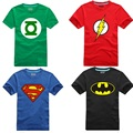 Comic Super Hero T-Shirt Marvel DC Superman Batman Captain America the Flash Movie Men Cosplay T Shirts Tshirt Geek Tee