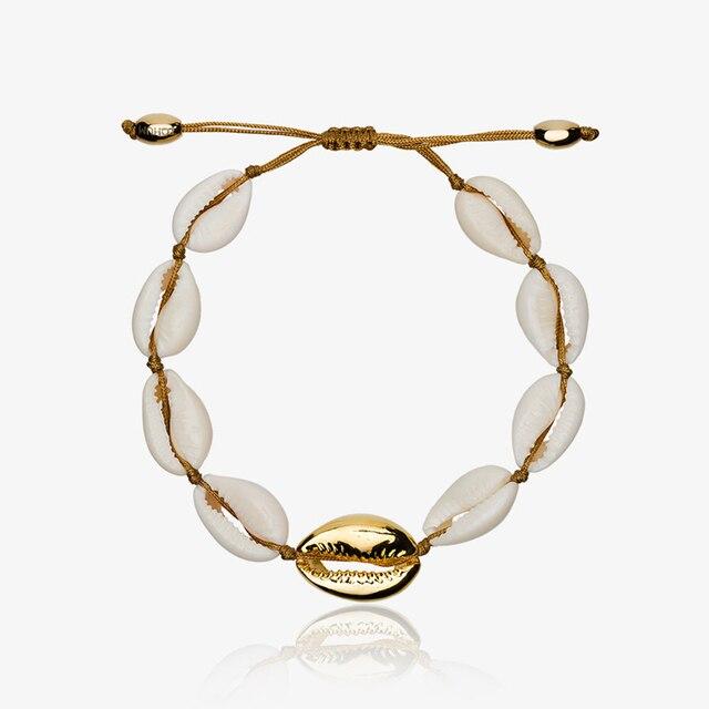 US $4 0 |NATURAL PUKA SHELL anklet anklet bracelet boho bohemian bracelets  for women-in Strand Bracelets from Jewelry & Accessories on Aliexpress com