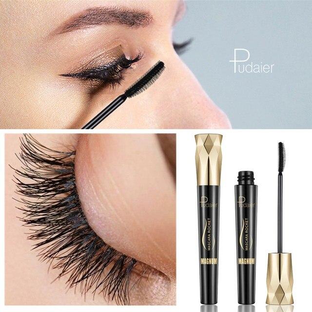 Pudaier Diamond Eye Lash Mascara 4d Fiber Waterproof Rimel Mascara Eyelash Makeup Cosmetic Curling Lengthening Lashes Black Ink 1