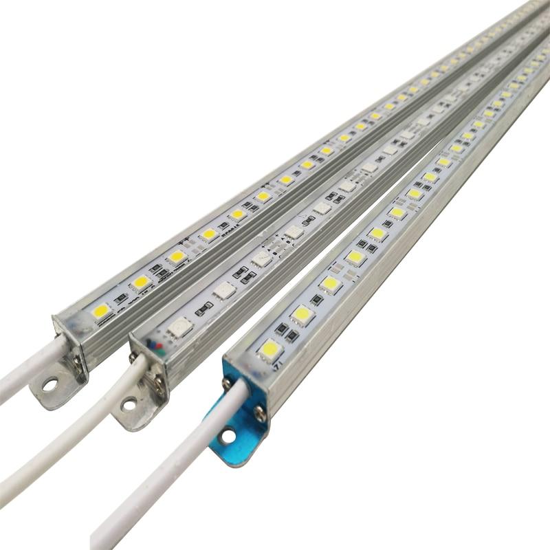 LED Bar Light Waterproof IP68 DC 12V 50cm SMD 5050 Rigid LED Strip Light For Swimming Pool Kitchen Under Cabinet