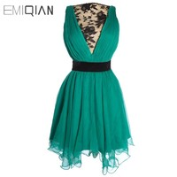 Charming Real Samples Mini Lace Chiffon Cocktail Dresses Freeshipping