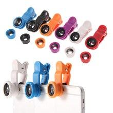 Common three in 1 Mini Clip-on Cellular Telephone Lenses 180 Diploma Fisheye Lens +10x Macro Lens + zero.67x Extensive Angle Lens For Smartphone